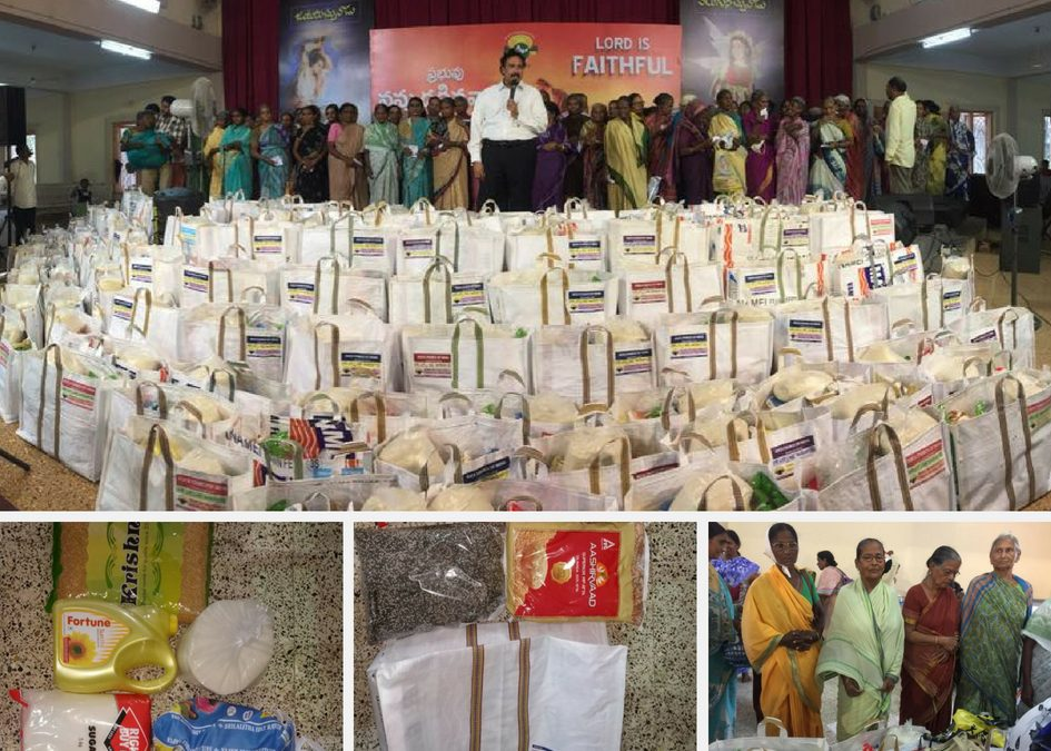 Providing 100 widows with food supplies for three months!